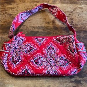 🍋VERÁ BRADLEY red print purse like new